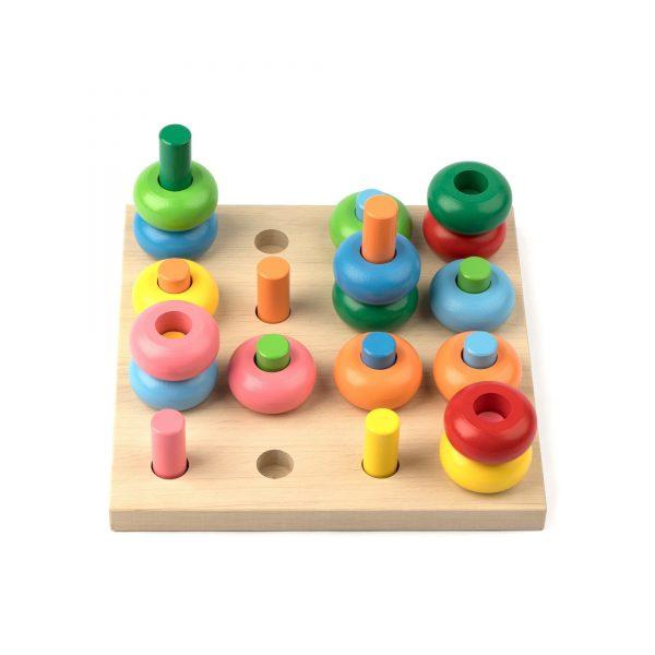 A362. Дерев'яна розвиваюча іграшка . Гра Розвивалочка. Komarovtoys