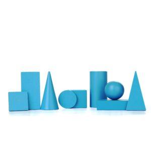A371. Дерев'яна розвиваюча іграшка Набір. Геометричні фігури та тіла 40мм. Komarovtoys