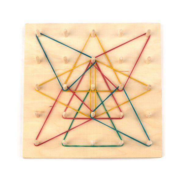 A373. Дерев'яна розвиваюча іграшка . Математичний планшет 5*5. НУШ, Komarovtoys