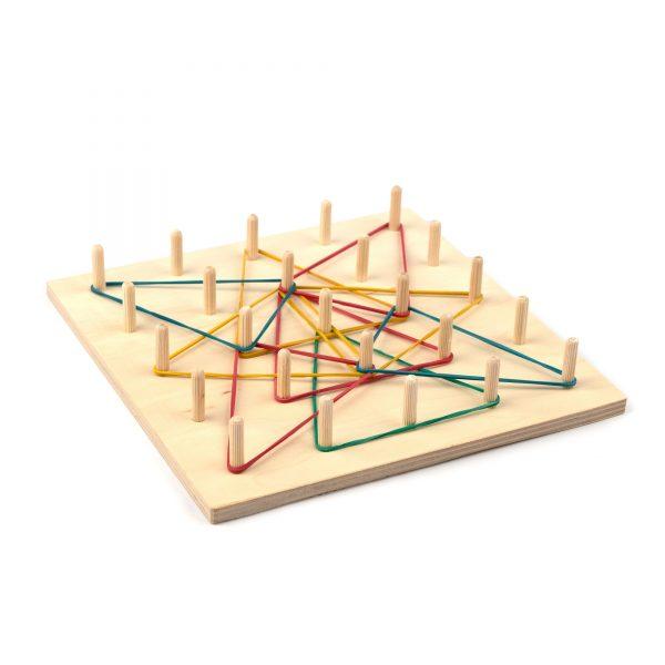 A373. Деревянная развивающая игрушка. Математический планшет 5*5. НУШ. Komarovtoys
