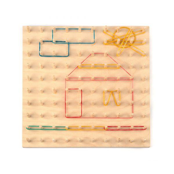 A374. Деревянная развивающая игрушка. Математический планшет 10/10. НУШ.Komarovtoys