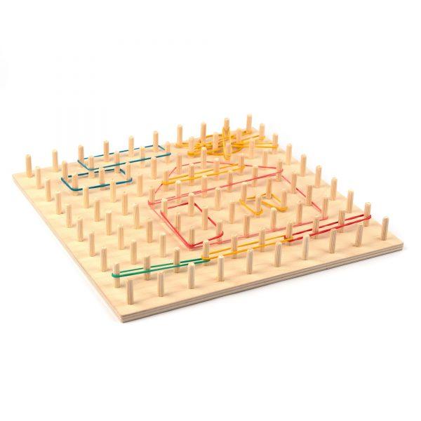 A374. Деревянная развивающая игрушка. Математический планшет 10/10. НУШ. Komarovtoys