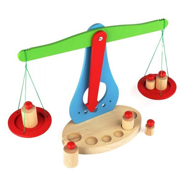 A376. Деревянная развивающая игрушка. Весы деревянные. НУШ Komarovtoys