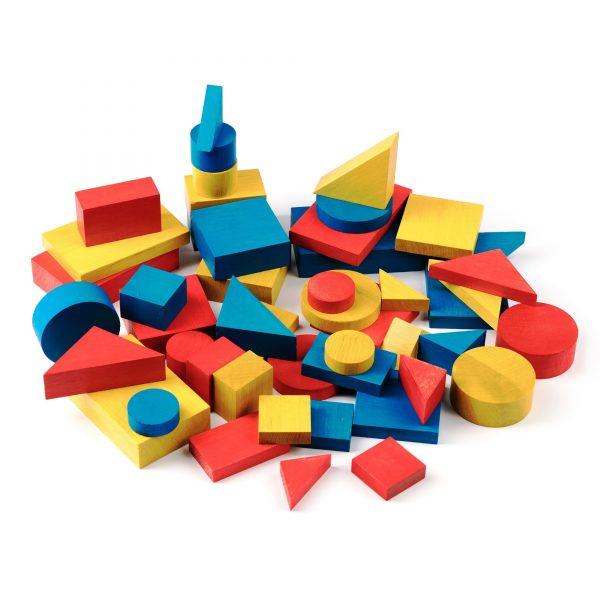 A378. Дерев'яна розвиваюча іграшка .Набір. Блоки Дьєніша. НУШ Komarovtoys