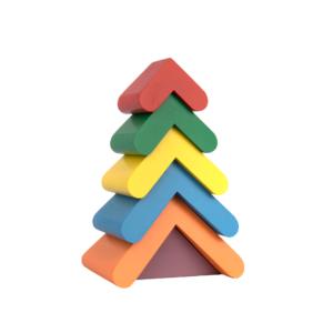 A348. Дерев'яна розвиваюча іграшка . Пірамідка Ялинка. Komarovtoys