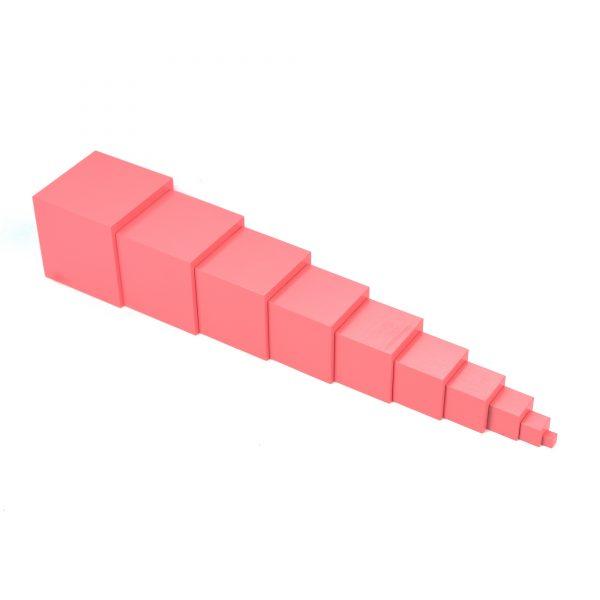ММ0001. Дерев'яна розвиваюча іграшка .Рожева башта. Komarovtoys