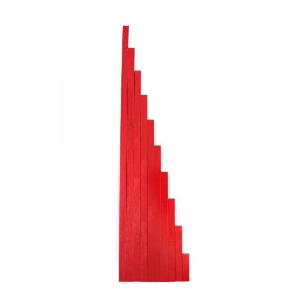 ММ0003. Дерев'яна розвиваюча іграшка Набір. Червоні штанги. Komarovtoys