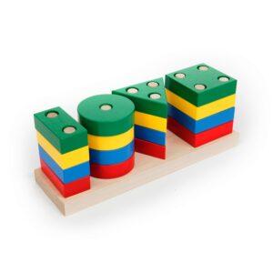 А311. Деревянная развивающая игрушка. Игра ГЕО-КЛАССИК. Komarovtoys