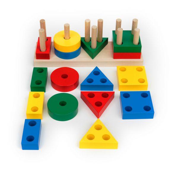 А311. Деревянная развивающая игрушка. Игра ГЕО-КЛАССИК Komarovtoys