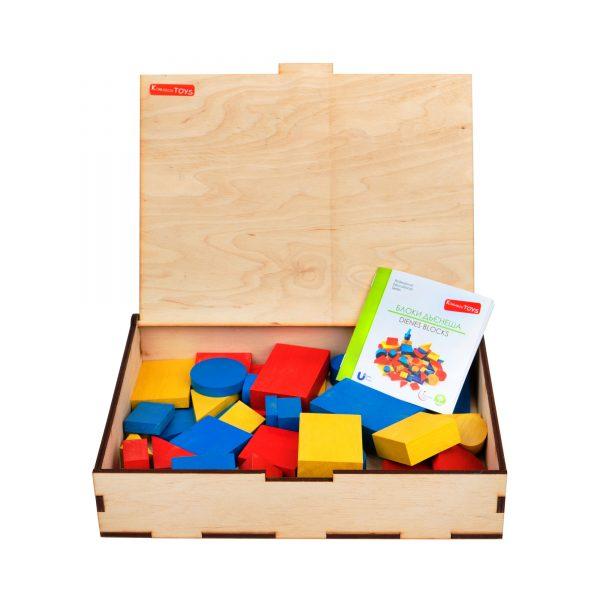 A378. Деревянная развивающая игрушка. Блоки Дьенеша. Komarovtoys