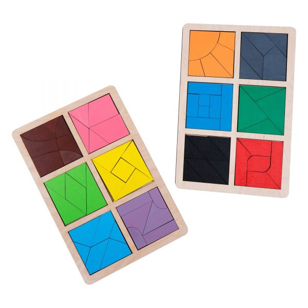 А392. Дерев'яна розвиваюча іграшка Набір.Гра Нікітіна. Склади квадрат 3 рівень Komarovtoys